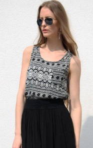 Silver-Cross-Aztec-top-black