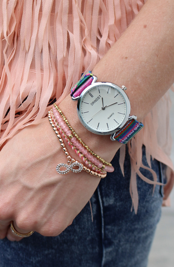 Infinity-Strass-Rose-armband