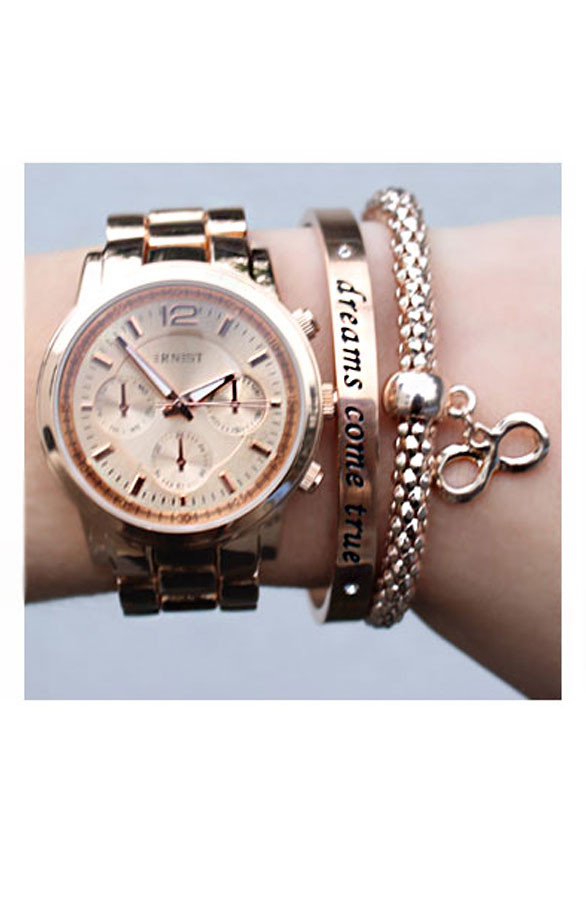 Armband-met-tekst-dreams-come-true