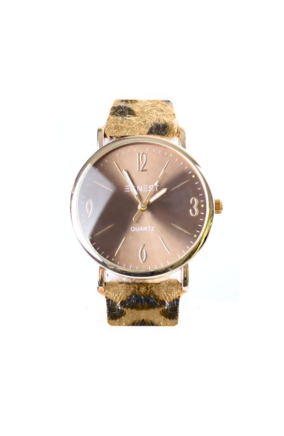 Leopard-Watch-Brown