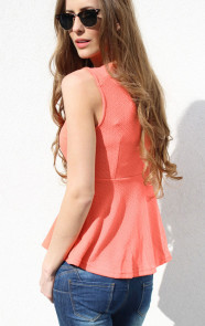 peplum-top-neon