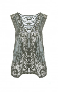 Lace Gilet Army