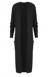 Long Jersey Cardigan Black