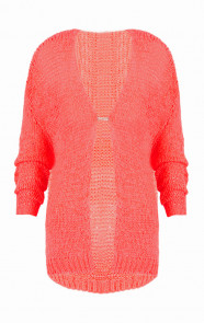 Neon Coral Musthave Cardigan
