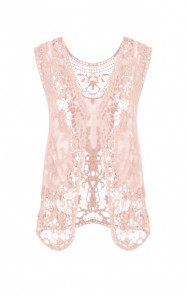 Lace Gilet Pink