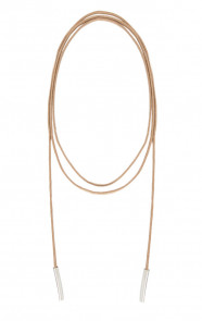 Choker Ketting Suede Taupe