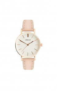 Leather Classy Watch Pink