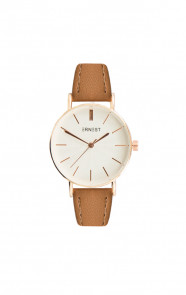 Leather Classy Watch Cognac