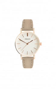Leather Classy Watch Taupe