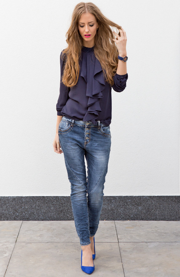 ruches-blouse-donkerblauw