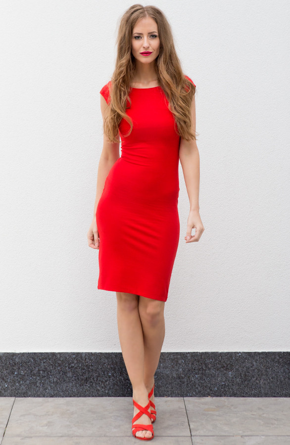 Feeling Classy Dress Red The Musthaves