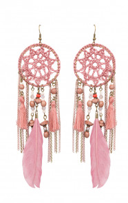 Dreamcatcher Oorbellen Blush Pink