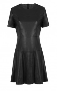 Statement Leather Dress Black