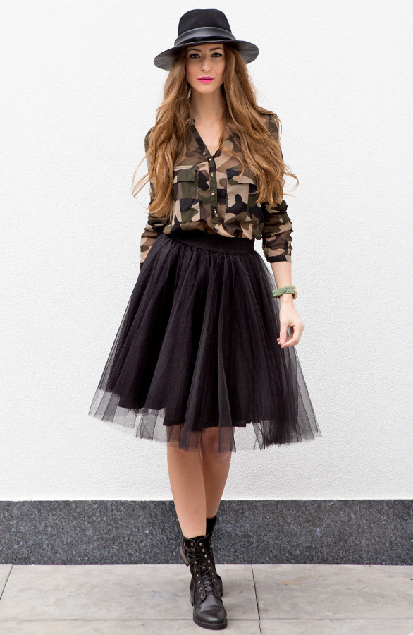 Fabulous Tule Rok Zwart Luxury | The Musthaves VY83