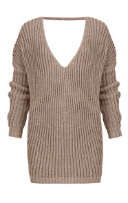 Low Back Sweater Taupe