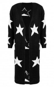Star Cardigan Black