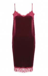 Velvet Slipdress Bordeaux