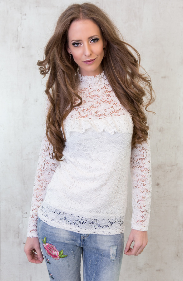 Most Wanted Lace Sleeve White