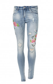Roses Patches Denim Jeans