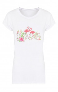 Flamingo Love It Shirt Wit