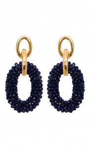 Oval-Luxury-Oorbellen-Navy