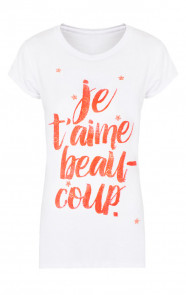 T'aime Neon Top Wit