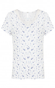 Kanten Birds Top Blue