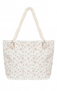 Flowerly Shopper Bag Creme