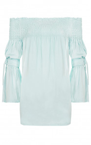 Off Shoulder Tuniek Mint