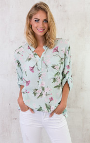 Flowerly Blouse Mintgroen