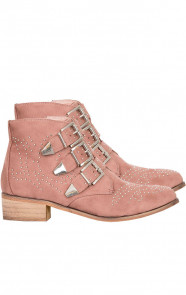 Studs Suede Blush Boots