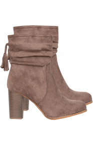 Suede Heels Taupe Limited