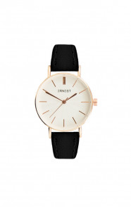 Leather Classy Watch Black