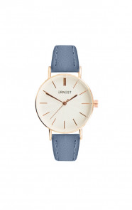 Leather Classy Watch Blue