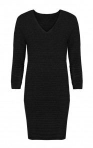 Long Knitted Sweater Black