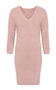Long Knitted Sweater Pink