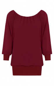 Basic Oversized Tuniek Bordeaux