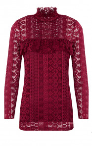 Most Wanted Lace Sleeve Bordeaux