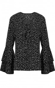 Polkadot Blouse Zwart Exclusive