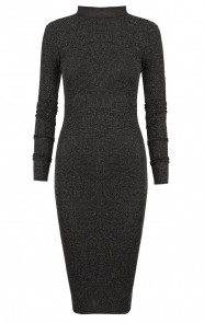 Sparkle Pencil Dress Black