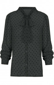 Sterrenprint Velours Blouse Groen
