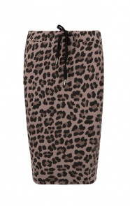 Leopard Skirt Taupe