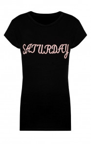 Saturday Top Zwart