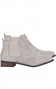 Suede Stretch Booties Grijs