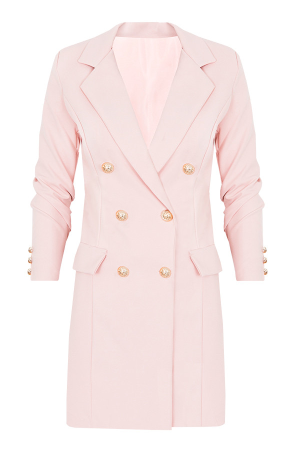 Lange Blazer Button Roze