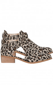 Leopard Cut Out Boots