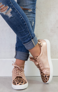 Leopard Sneakers Rose