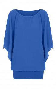 Basic-Oversized-Tuniek-Kobalt