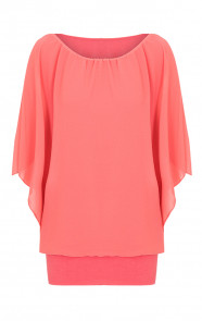 Basic-Oversized-Tuniek-Koraal