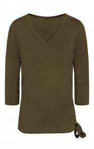 Basic Strik Shirt Legergroen